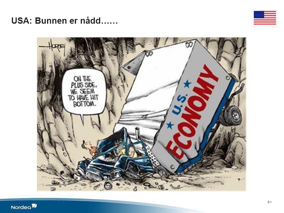 USA langsom vekst tross kraftige stimulanser 7 • •Forsiktige banker og låntagere.