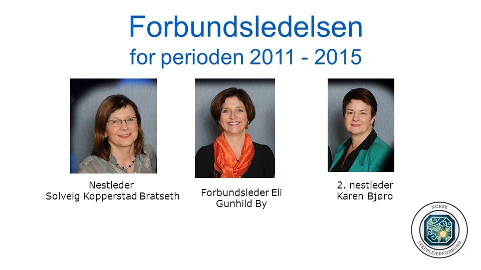 Forbundsledelsen for perioden 2011 - 2015 Forbundsleder Eli Gunhild By Nestleder Solveig Kopperstad Bratseth 2. nestleder Karen Bjøro