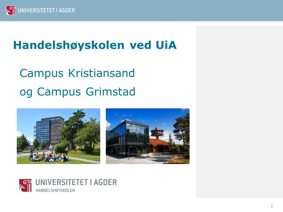 Handelshøyskolen ved UiA Campus Kristiansand og Campus Grimstad 1