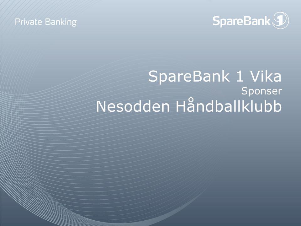 SpareBank 1 Vika Sponser Nesodden Håndballklubb