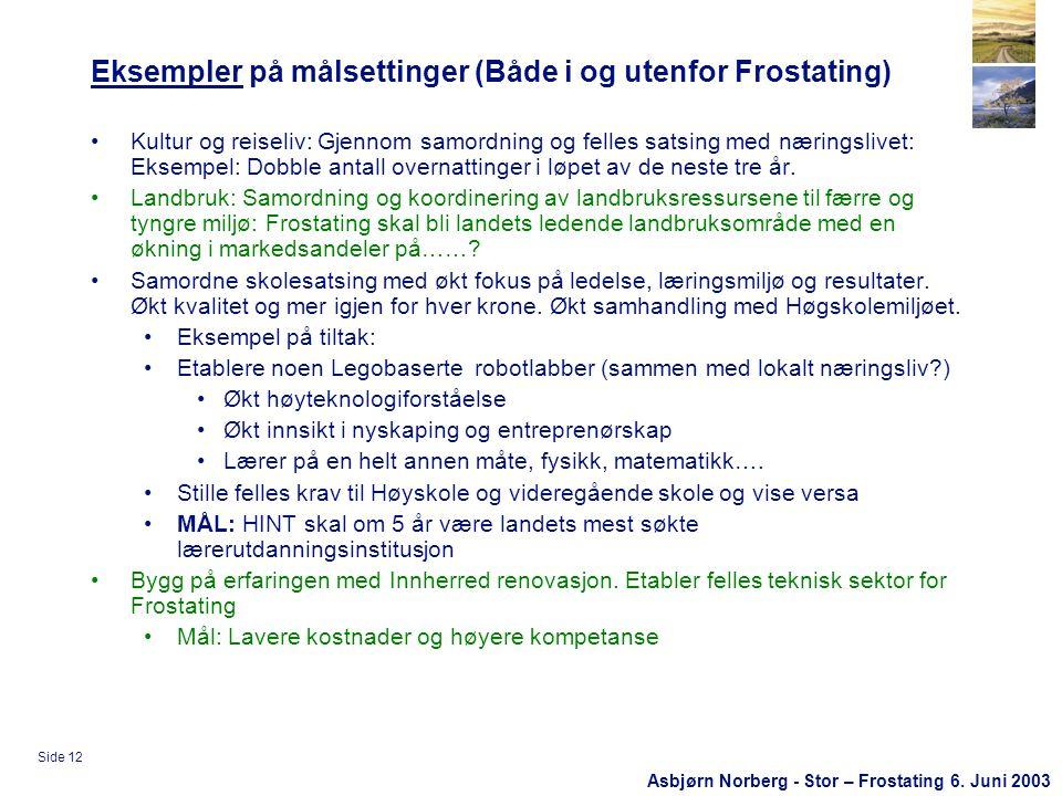 Asbjørn Norberg - Stor – Frostating 6.