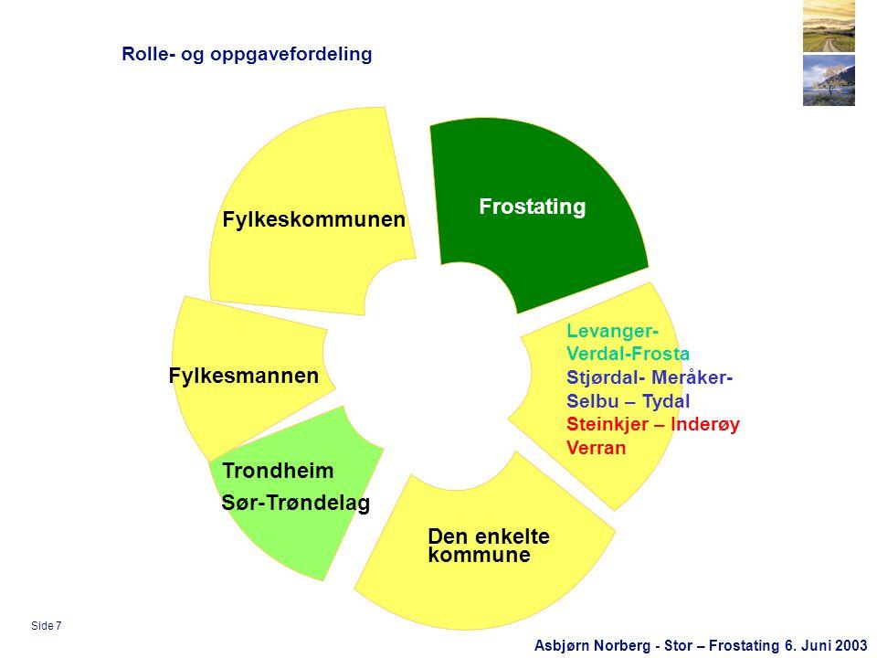 Asbjørn Norberg - Stor – Frostating 6.Juni 2003 Side 8 Hvorfor samarbeid.