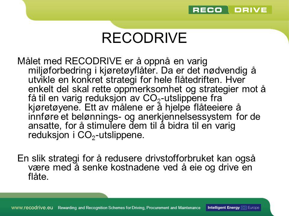 Rewarding and Recognition Schemes for Driving, Procurement and Maintenance Hva mener vi med varige endringer.