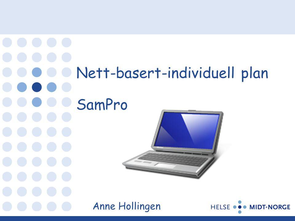 Nett-basert-individuell plan SamPro Anne Hollingen