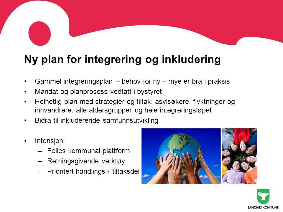 Ny plan for integrering og inkludering •Gammel integreringsplan – behov for ny – mye er bra i praksis •Mandat og planprosess vedtatt i bystyret •Helhe