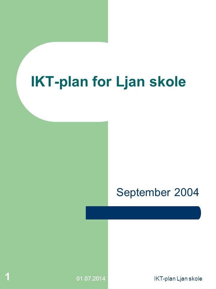 01.07.2014IKT-plan Ljan skole 1 IKT-plan for Ljan skole September 2004