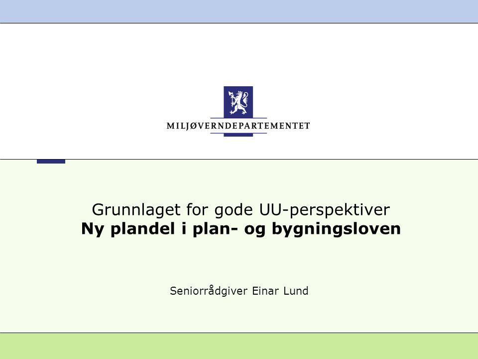 22 Miljøverndepartementet 2008 Ny plandel i PBL Medvirkning •Enhver som fremmer planforslag skal legge til rette for medvirkning.