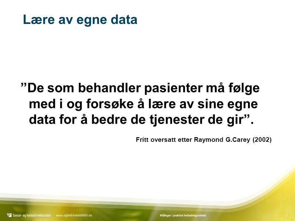 43Målinger i praktisk forbedringsarbeid Dataprogram og litteratur •EpiData Analysis: www.epidata.dkwww.epidata.dk •Brukerveiledning til SPC-modulen: www.gruk.nowww.gruk.no •Hefte om forbedringsarbeid og SPC: www.gruk.nowww.gruk.no •Carey RG.