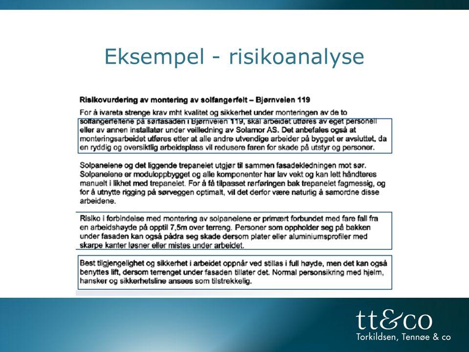 Eksempel - risikoanalyse