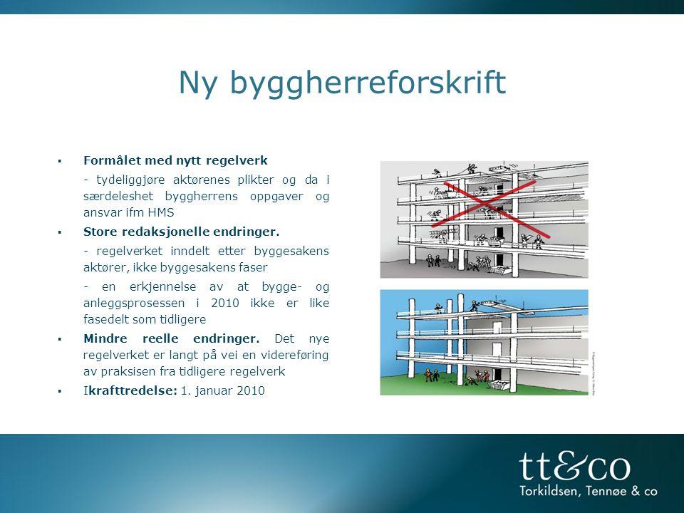 2010 Ny Byggherreforskrift 2006 Ny Arbeidsmiljølov - 2008 Forskrift om ID-kort * Arbeidsmiljølovgivning i Norge