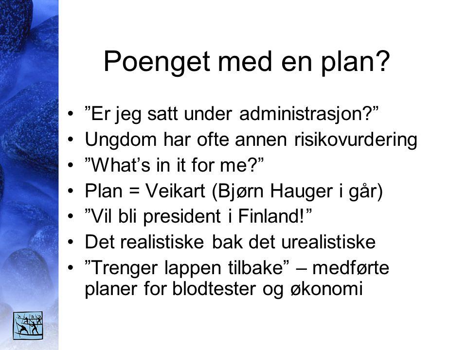 Poenget med en plan.