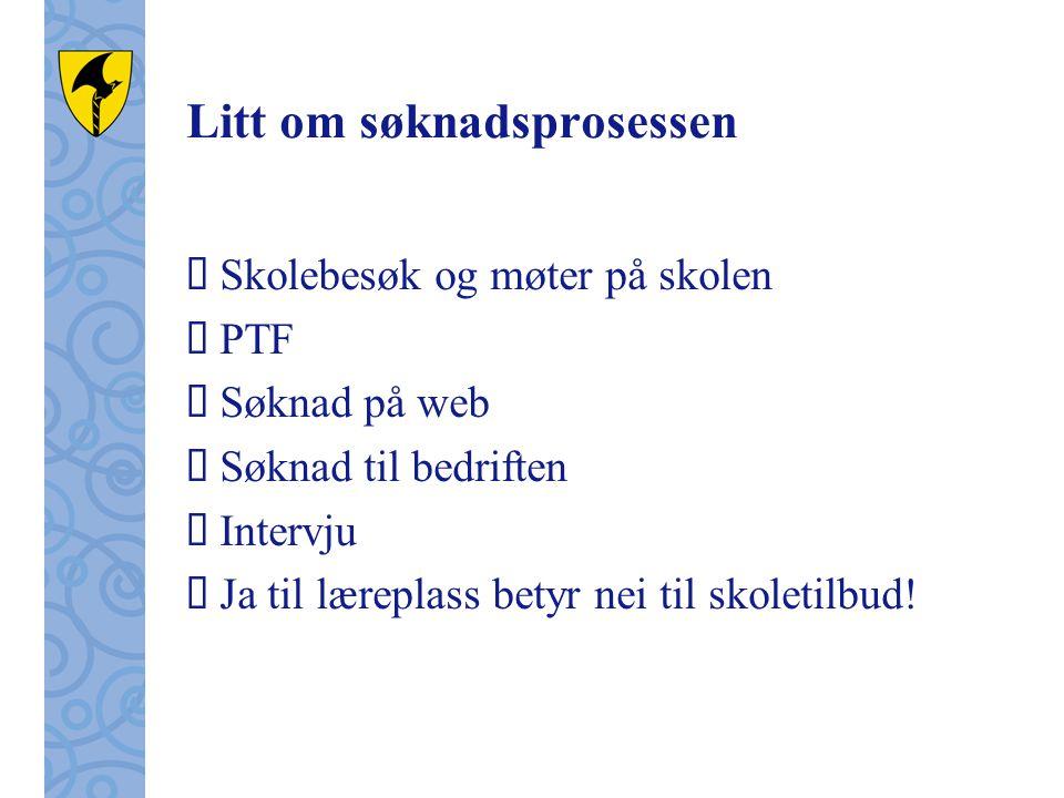 Nyttige nettsider for info  Fylkeskommunens nettsider: www.telemark.no eller ring til TFK – fagopplæring/inntak www.telemark.no  Besøk nettstedet: www.vilbli.no (les i boka)www.vilbli.no