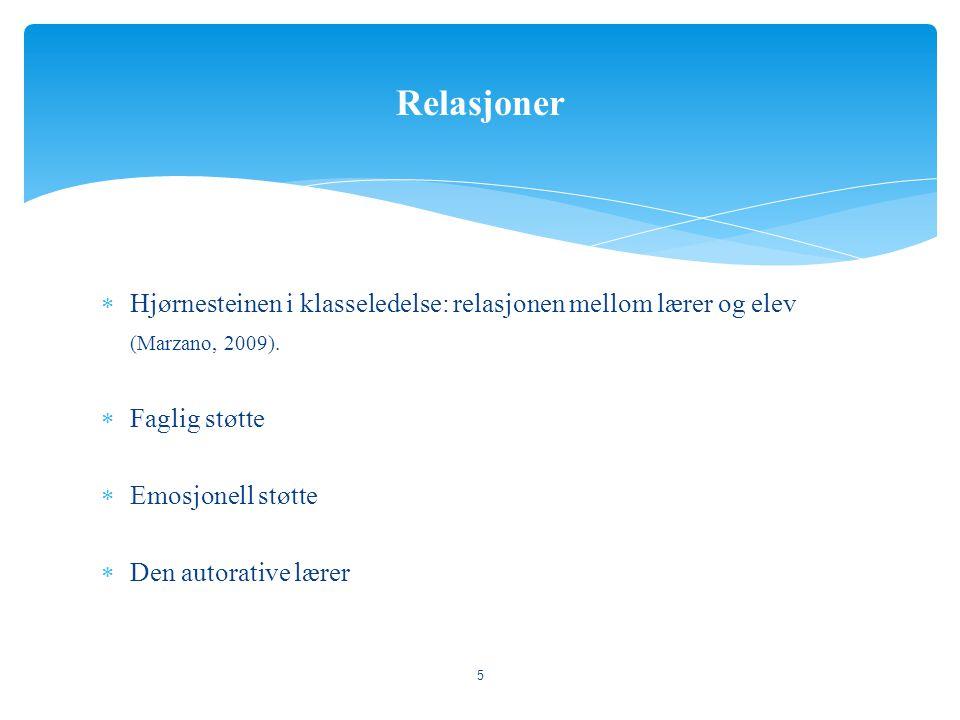  Virkemiddel for læring og effektivitet i gruppen (Doyle, 2006)  Skaper en felles ramme  Normer for samling  Regelledelseskompetanse (Nordenbo, Søgaard, Tifticki, Wendt, & Østergaard, 2008).