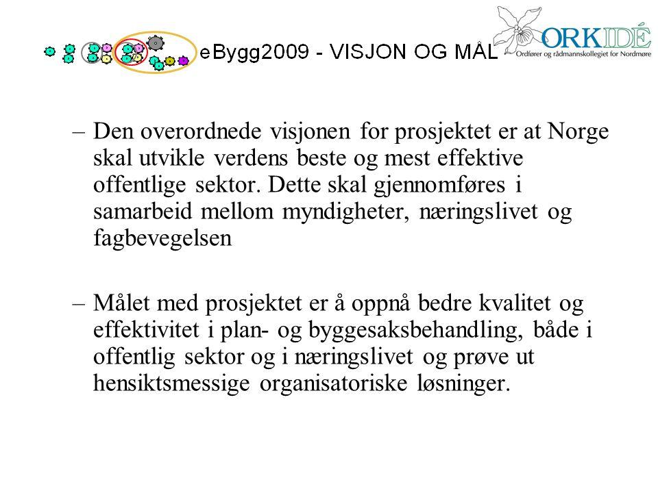 –Den overordnede visjonen for prosjektet er at Norge skal utvikle verdens beste og mest effektive offentlige sektor. Dette skal gjennomføres i samarbe