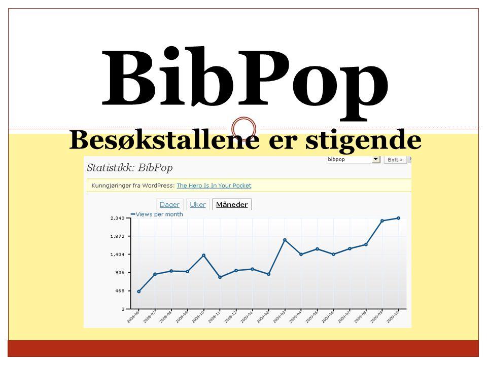 BibPop Besøkstallene er stigende