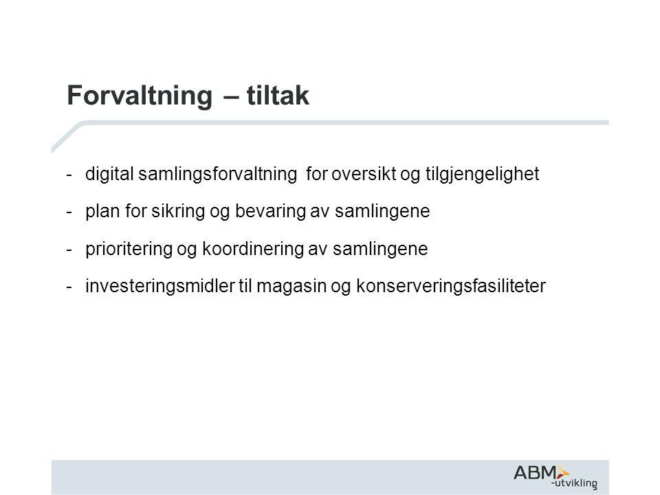 Omorganisering av ABM-utvikling Meld.St.