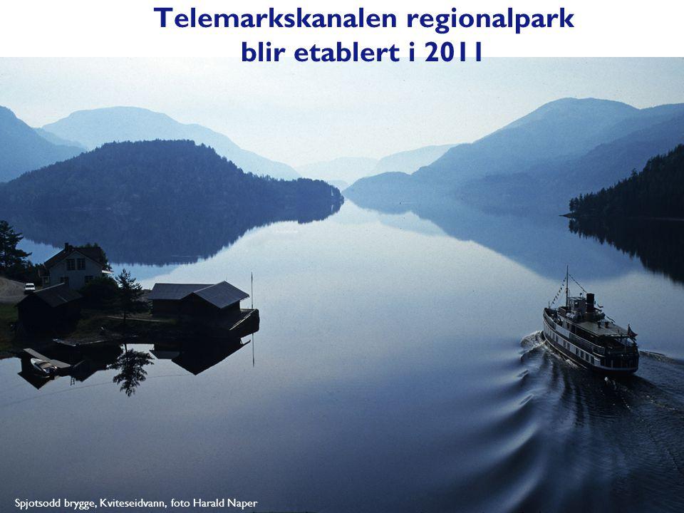 Spjotsodd brygge, Kviteseidvann, foto Harald Naper Telemarkskanalen regionalpark blir etablert i 2011