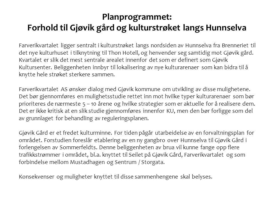 TILNÆRMING – NOEN SPØRSMÅL VI HAR STILT OSS • Temaet for KU er grunnlag for regulering av Farverikvartalet.