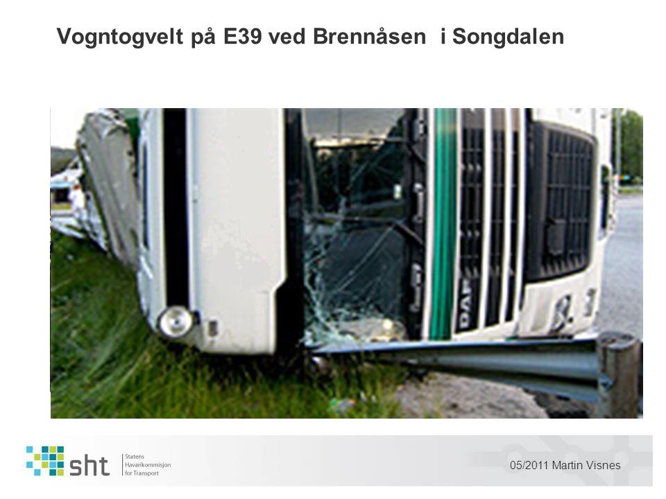 Vogntogvelt på E39 ved Brennåsen i Songdalen