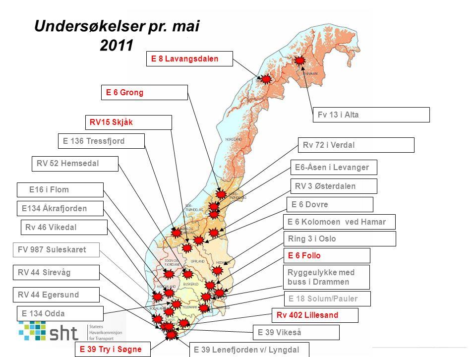 04/2011 Martin Visnes Ryggeulykke med buss i Drammen E6-Åsen i LevangerRV 44 EgersundRV 44 Sirevåg E 39 Vikeså FV 987 SuleskaretE 18 Solum/PaulerRV 52