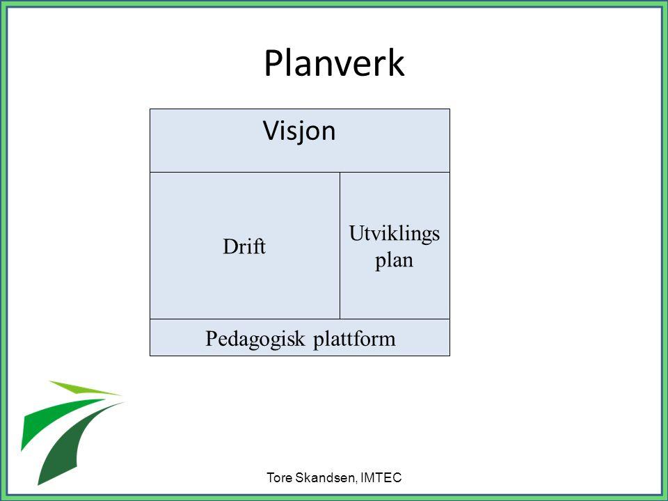 Planverk Visjon Tore Skandsen, IMTEC Drift Utviklings plan Pedagogisk plattform