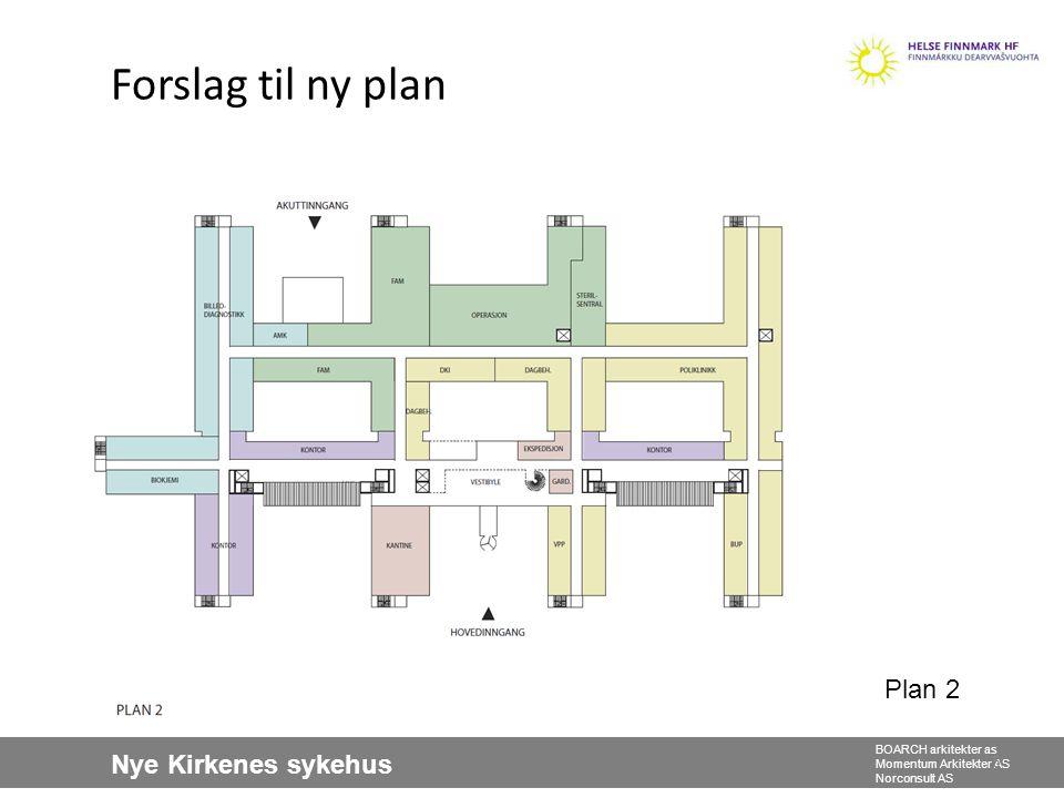 Nye Kirkenes sykehus BOARCH arkitekter as Momentum Arkitekter AS Norconsult AS Forslag til ny plan 5 Plan 2