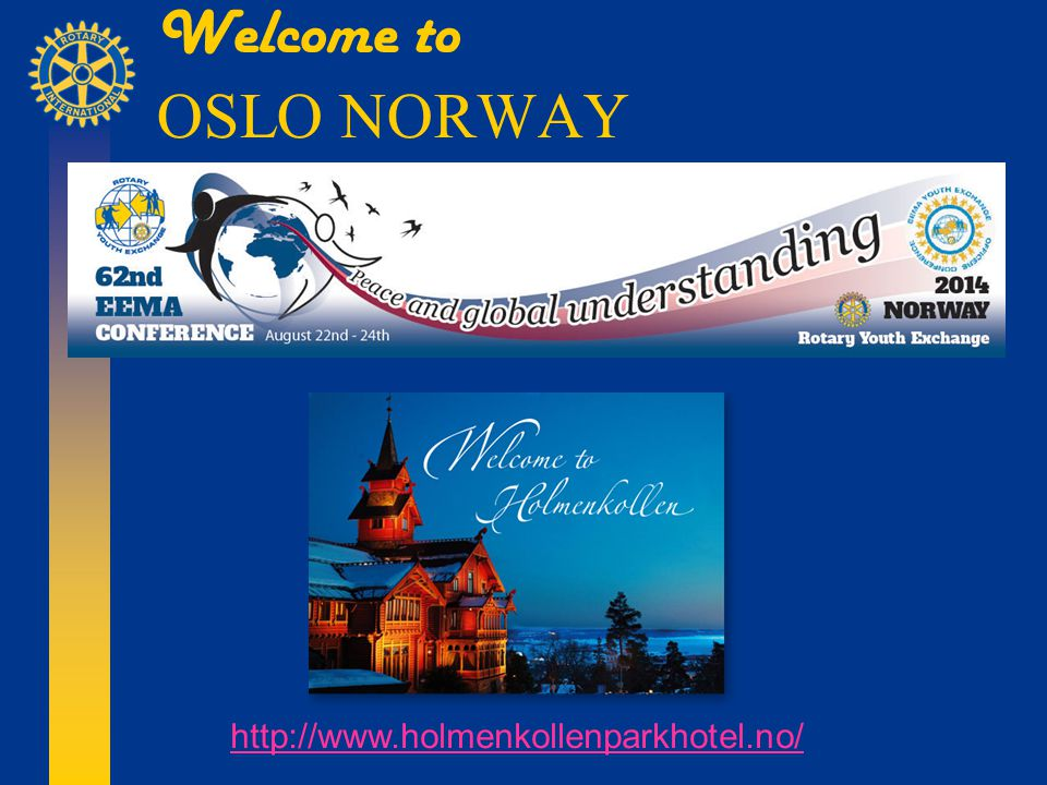 Welcome to OSLO NORWAY http://www.holmenkollenparkhotel.no/