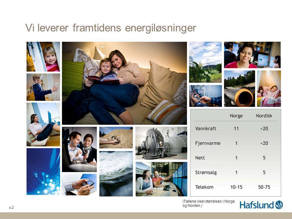 Vi leverer framtidens energiløsninger s.2 (Tallene viser størrelsen i Norge og Norden.)