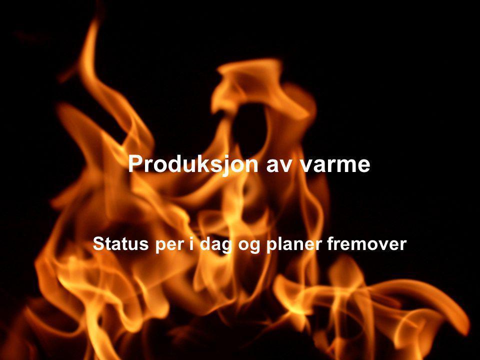 Innsatsfaktorer i vår varmeproduksjon 14 % fra fossil olje og gass50 % fra bio og avfall