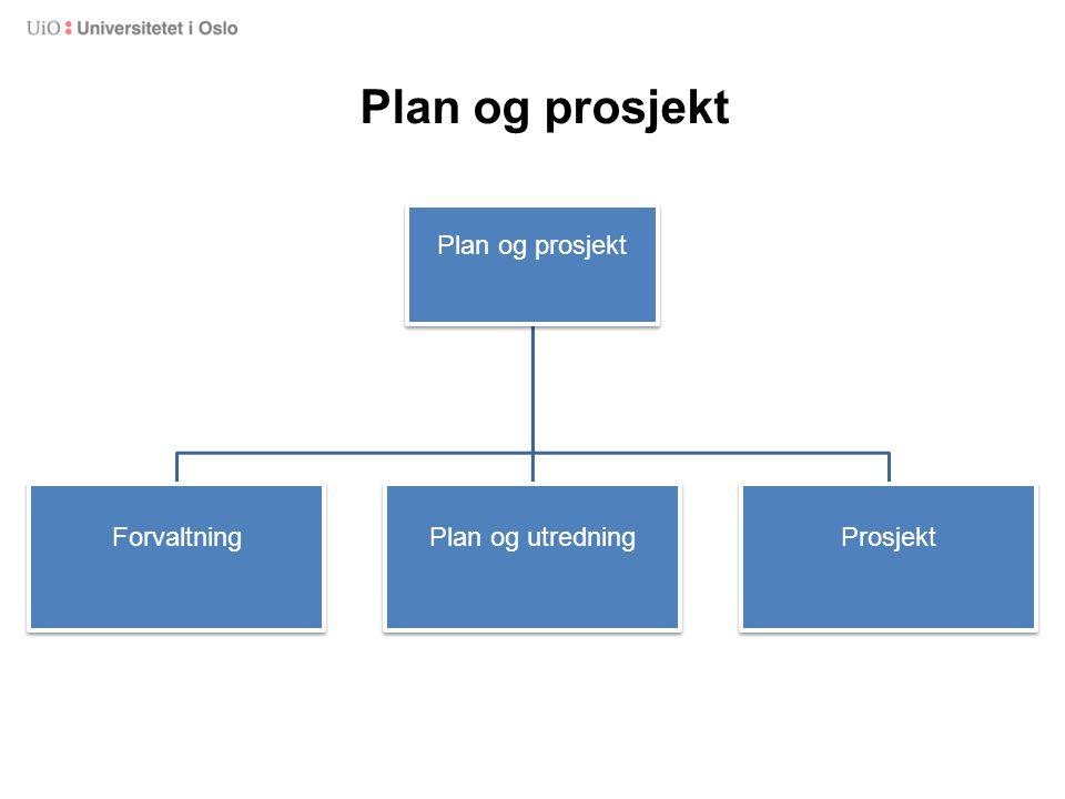 Plan og prosjekt