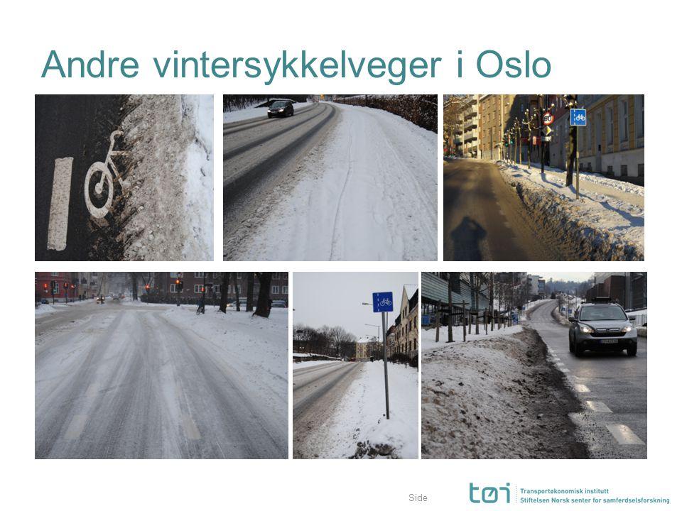 Side Andre vintersykkelveger i Oslo