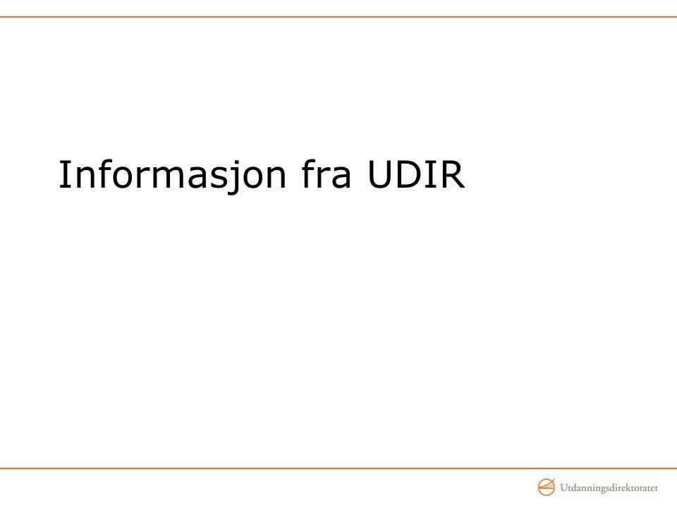Informasjon fra UDIR