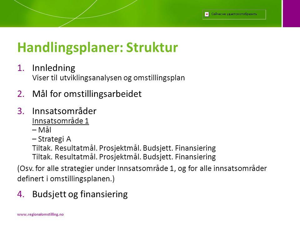 1.Innledning Viser til utviklingsanalysen og omstillingsplan 2.Mål for omstillingsarbeidet 3.Innsatsområder Innsatsområde 1 – Mål – Strategi A Tiltak.