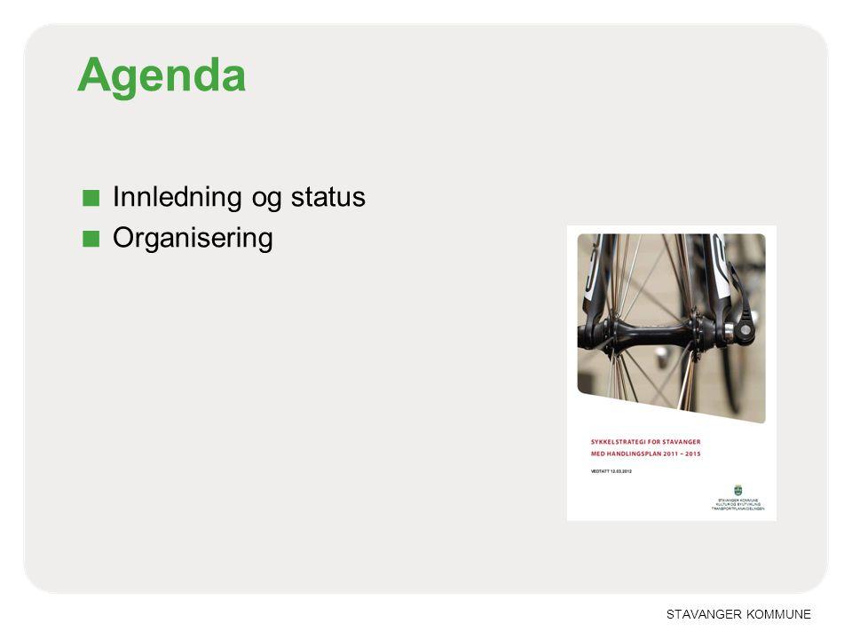 STAVANGER KOMMUNE Agenda ■ Innledning og status ■ Organisering