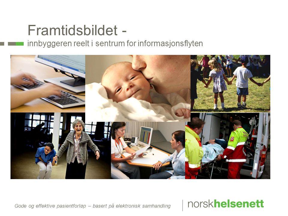 Gode og effektive pasientforløp – basert på elektronisk samhandling Framtidsbildet - innbyggeren reelt i sentrum for informasjonsflyten