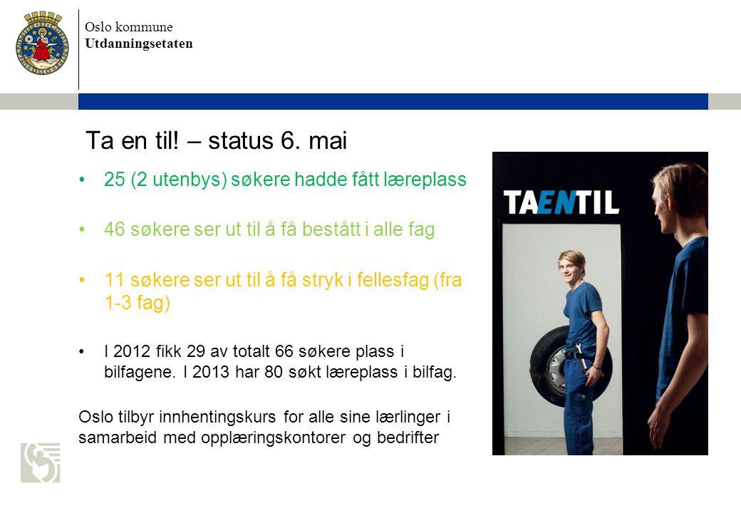 Oslo kommune Utdanningsetaten Ta en til. – status 6.