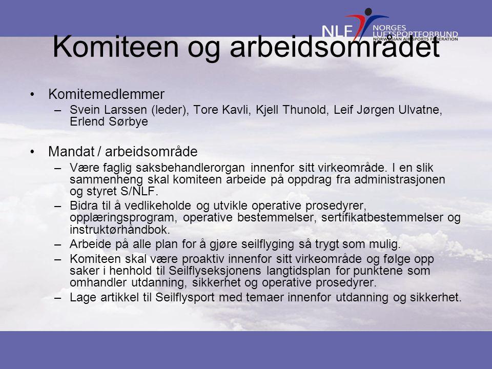 Komiteen og arbeidsområdet •Komitemedlemmer –Svein Larssen (leder), Tore Kavli, Kjell Thunold, Leif Jørgen Ulvatne, Erlend Sørbye •Mandat / arbeidsområde –Være faglig saksbehandlerorgan innenfor sitt virkeområde.