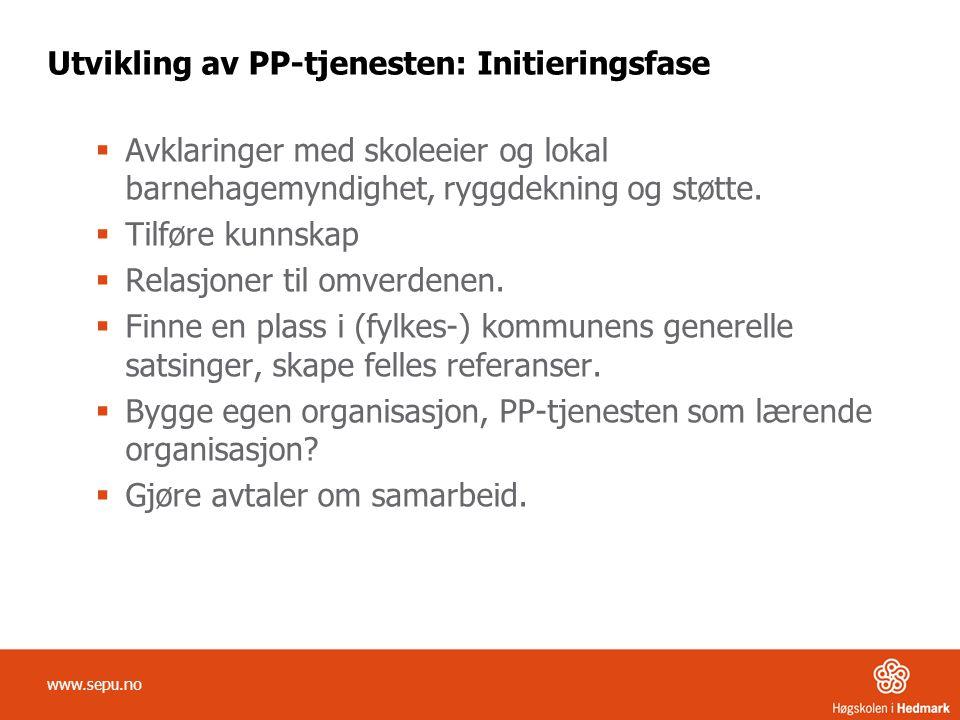 Utvikling av PP-tjenesten: Implementeringfase •Ha en plan for gjennomføring.