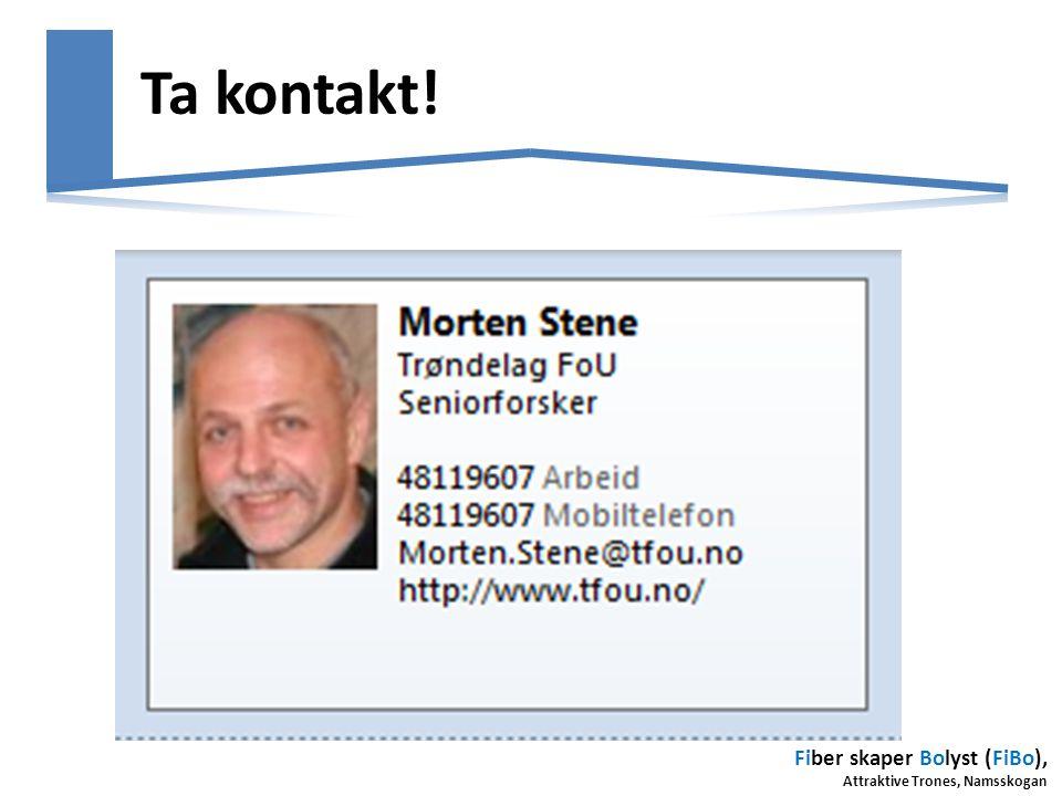 Fiber skaper Bolyst (FiBo), Attraktive Trones, Namsskogan Ta kontakt!