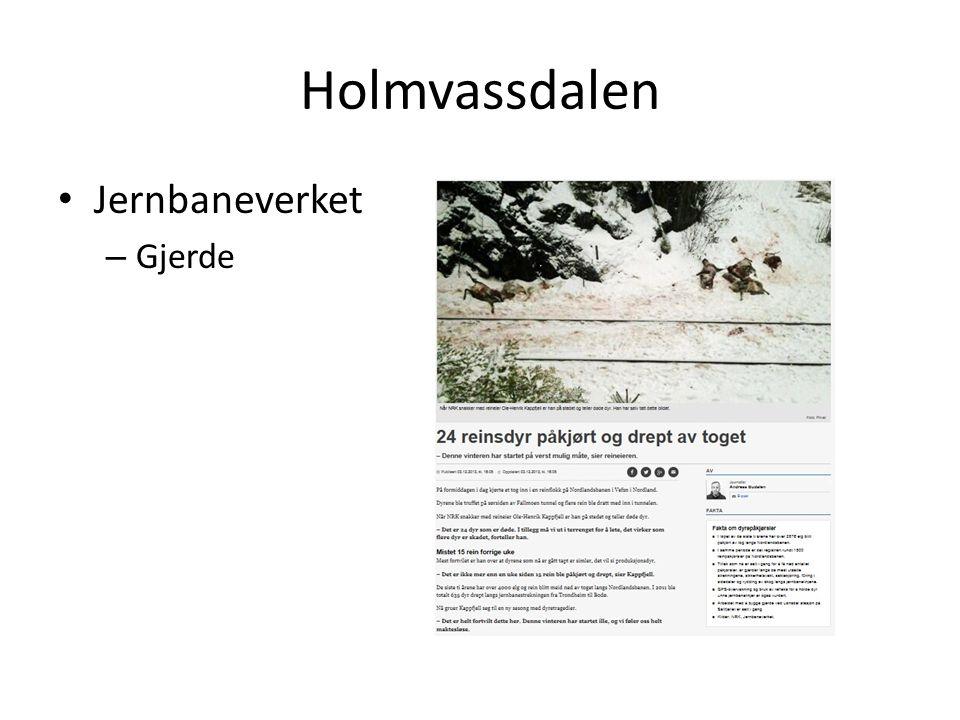 Holmvassdalen • Jernbaneverket – Gjerde