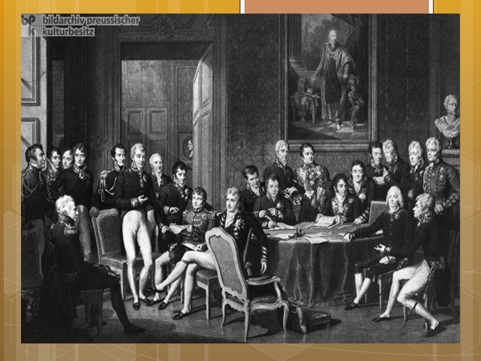 Wienkongressen  I 1814-1815: Wienkongressen: Internasjonal fredsavtale  Likevel fortsatte den folkelige motstanden frem til midten av 1800-tallet 