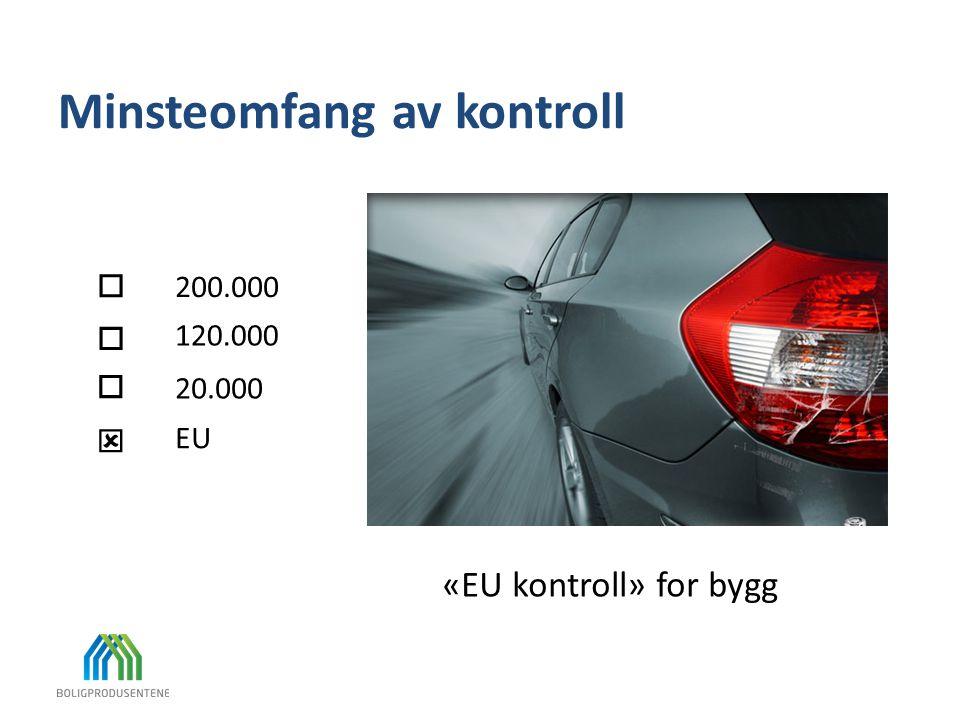 Minsteomfang av kontroll «EU kontroll» for bygg     120.000 20.000 200.000 EU