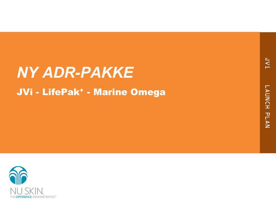 JVi LAUNCH PLAN NY ADR-PAKKE JVi - LifePak + - Marine Omega