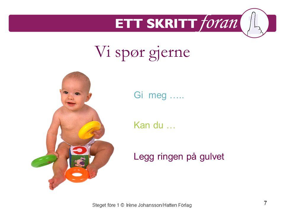 Steget före 1 © Irène Johansson/Hatten Förlag 7 Vi spør gjerne Gi meg …..