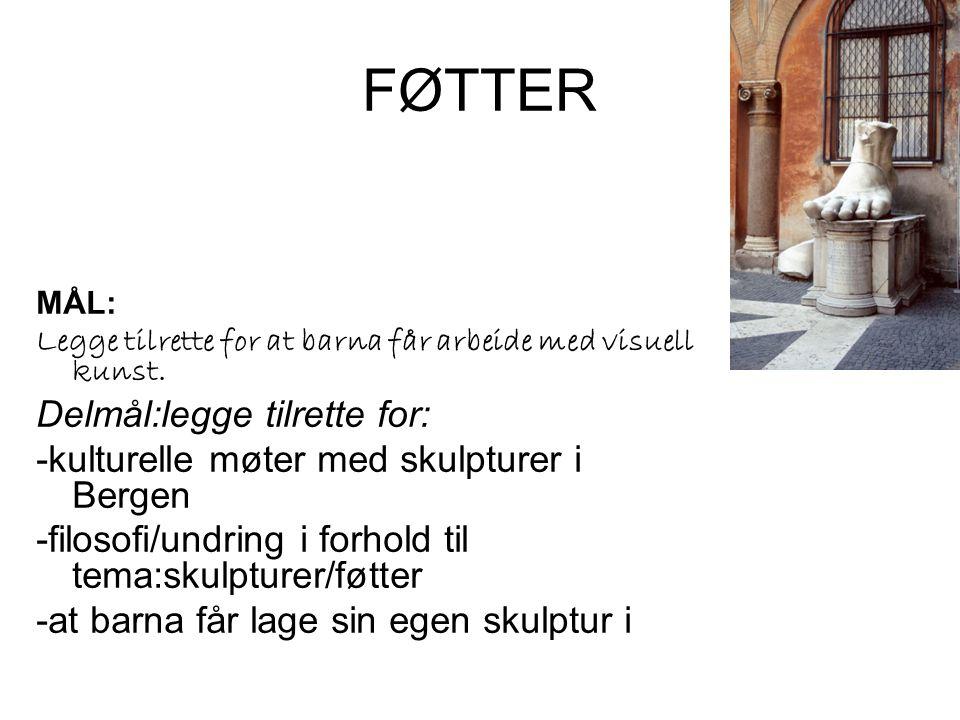 FØTTER •RAMME: •Kunstner Vibeke Harild •Økonomi: Kr.
