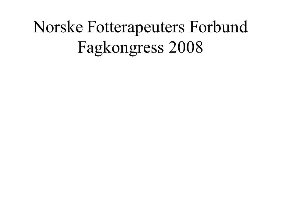 Norske Fotterapeuters Forbund Fagkongress 2008