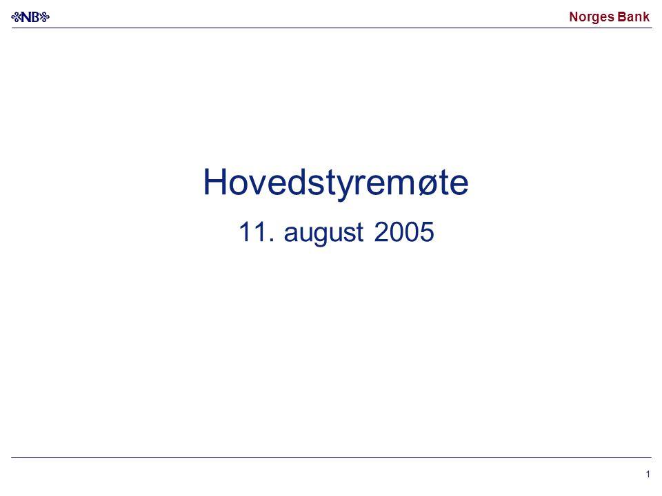 Norges Bank 1 Hovedstyremøte 11. august 2005