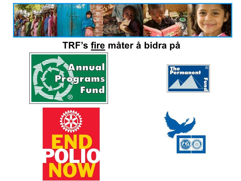 TRF's fire måter å bidra på