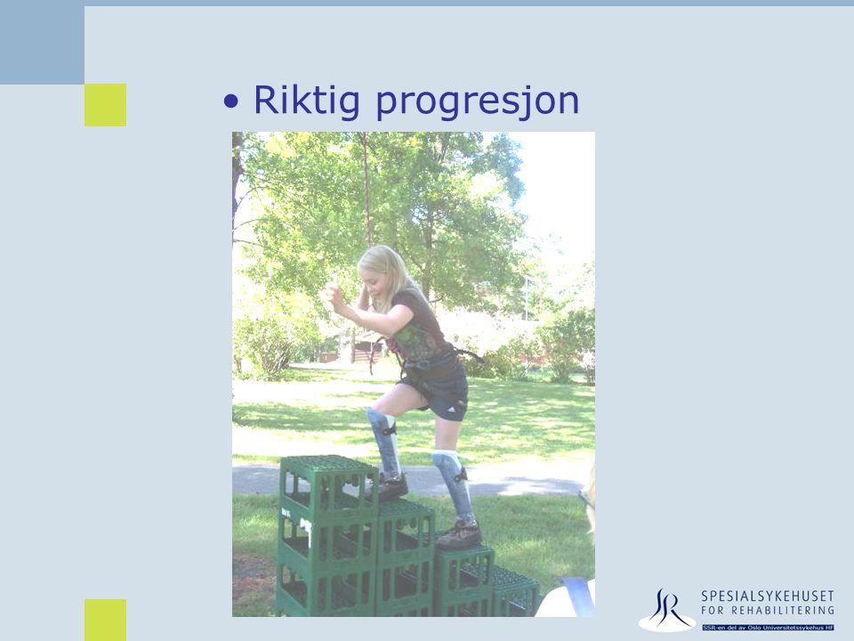 •Riktig progresjon
