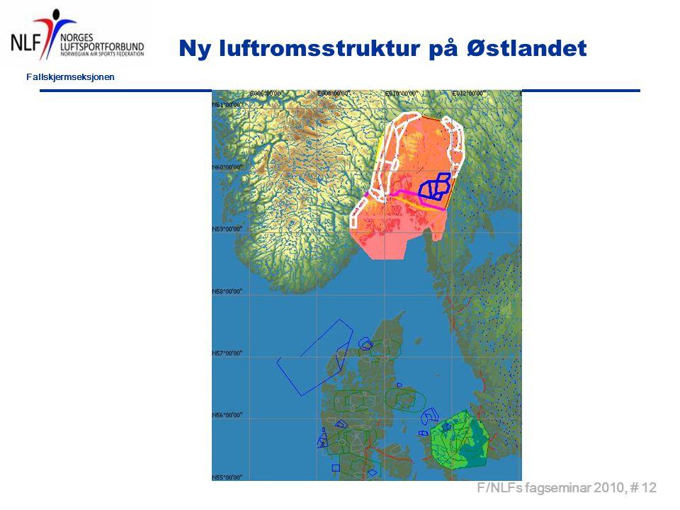 Fallskjermseksjonen F/NLFs fagseminar 2010, # 12 Ny luftromsstruktur på Østlandet